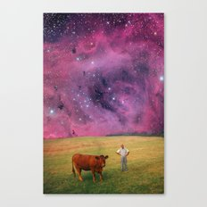 How Now Brown Cow #2 - What's that man doing in my field? Canvas Print