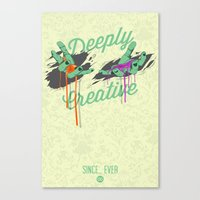 Deeply Creative Canvas Print