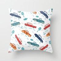 50's cars Throw Pillow