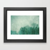 Framed Art Print featuring Winter In Green by The Last Sparrow
