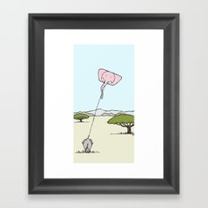 When An Elephant Flies a Kite Framed Art Print