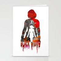 Black Widow Print Stationery Cards