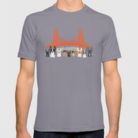 Bay Area Frenchies Mens Fitted Tee Slate SMALL