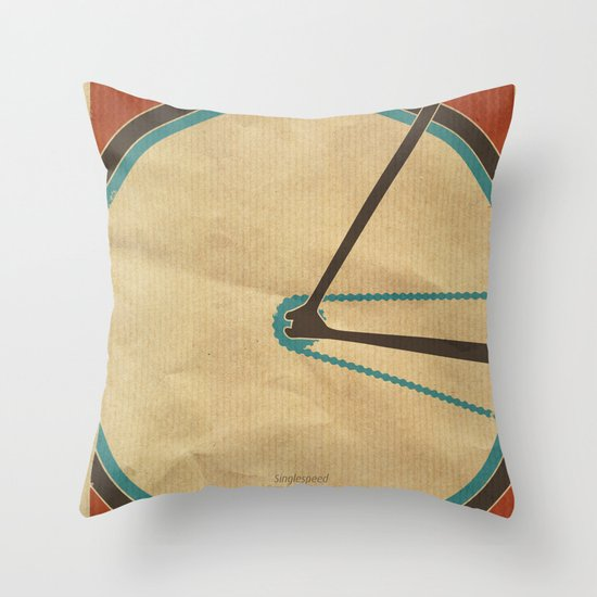 Singlespeed Throw Pillow