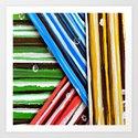 Striped Planes Art Print