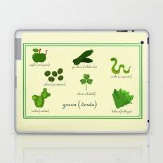 Colors: green (Los colores: verde) Laptop & iPad Skin