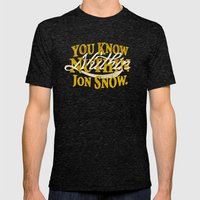 nuthin Mens Fitted Tee Tri-Black SMALL