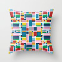 Stained Glass W Throw Pillow