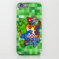 Funny Cute Cube Superher… iPhone 6 Slim Case