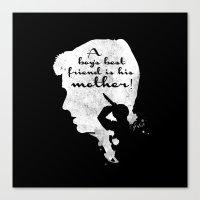 Boy's best friend – Norman Bates Psycho Silhouette Quote Canvas Print