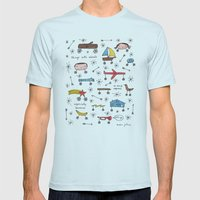 Things With Wheels Mens Fitted Tee Light Blue SMALL