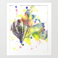 Hot Air Balloon Rising I… Art Print