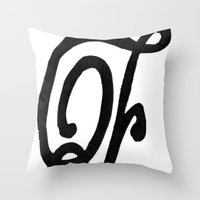 Monogrammed Letter F Throw Pillow