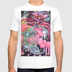 Air Bubbles SMALL White Mens Fitted Tee