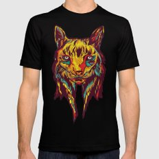 BE RARE* - Iberic Lince SMALL Black Mens Fitted Tee