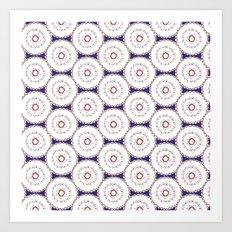 Kaleidoscope Circles Art Print