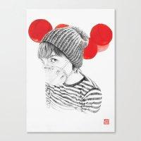 MASK + LANTERNS Canvas Print