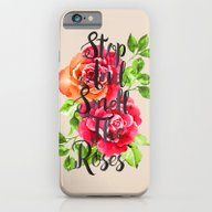 Stop And Smell The Roses iPhone 6 Slim Case