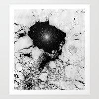 Cracked Art Print