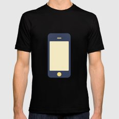 #12 iPhone SMALL Mens Fitted Tee Black