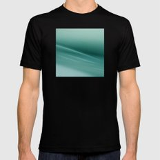 Fantasy Space Lines 1 Turquoise SMALL Black Mens Fitted Tee