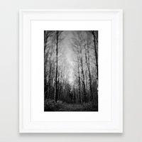 traveled trail. Framed Art Print
