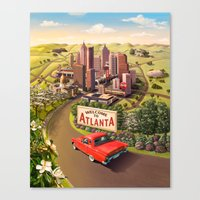 Welcome to Atlanta Canvas Print
