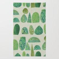 Watercolour Topiary Rug