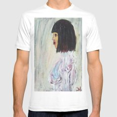 KLIMTISH GYNOID White SMALL Mens Fitted Tee