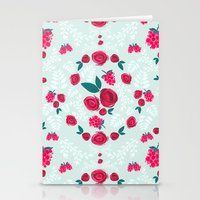 Roses & Berries Stationery Cards
