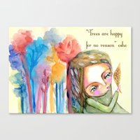 Trees Are Happy For No R… Canvas Print