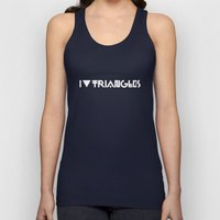 I Heart Triangles Unisex Tank Top
