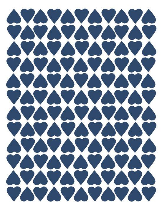 Diamond Hearts Repeat Navy Canvas Print