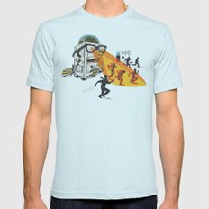 Bad Day At The Office Mens Fitted Tee Light Blue SMALL