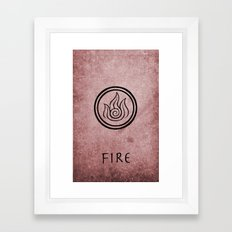Avatar Last Airbender Elements - Fire Framed Art Print