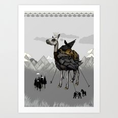 The Capture of the Feather King Art Print