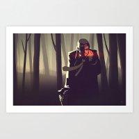 Sin City woods Art Print