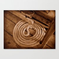 Rope On A Boat Canvas Print