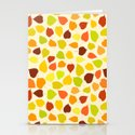 Linden tree autumn leaves Stationery Cards