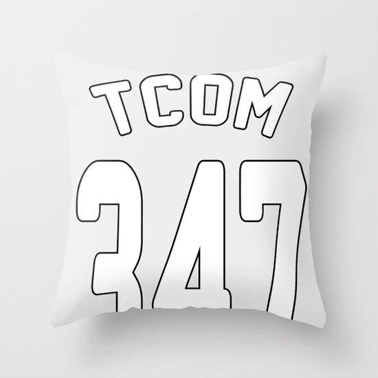 TCOM 347 AREA CODE JERSEY Throw Pillow