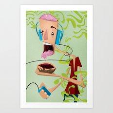 Puke Brain Art Print