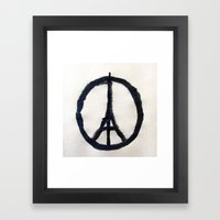 Peace For Paris Framed Art Print