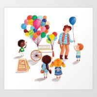 Balloon Stand Art Print