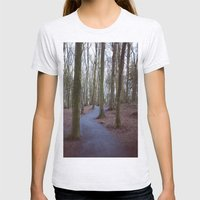 Trees Womens Fitted Tee Ash Grey SMALL