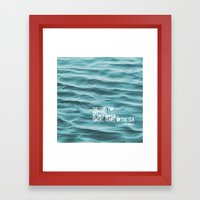 SaltWater Cure Framed Art Print