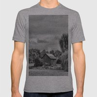 Down On The Farm Black A… Mens Fitted Tee Athletic Grey SMALL