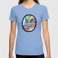 KITTY / GREY Womens Fitted Tee Tri-Blue SMALL