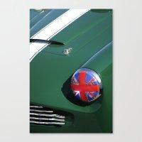 Union Jack Headlight Canvas Print