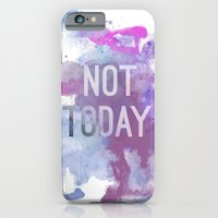 iPhone Cases featuring not today by miss ninja cookie