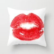 Throw Pillow featuring Kiss by Paint The Moment